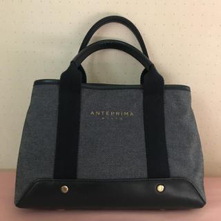 アンテプリマ(ANTEPRIMA)の美品 アンテプリマミスト トートバッグ ネイビー(トートバッグ)