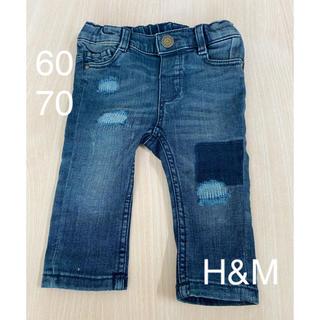 エイチアンドエム(H&M)のH&M デニム 60 70 ベビー パンツ ボトムス デニム ジーパン 美品(パンツ)