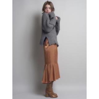 リルリリー(lilLilly)のlilLilly/グロッシーマーメイドスカート/オレンジ(ひざ丈スカート)