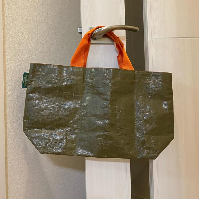 Herve Chapelier(エルベシャプリエ)のエルベシャプリエ マルシェ pp 2012 トートバッグ カーキ×オレンジ レディースのバッグ(トートバッグ)の商品写真
