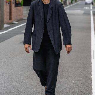 コモリ(COMOLI)のcomoli ウールシルクジャケット チャコール サイズ1(テーラードジャケット)
