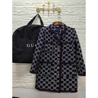 グッチ(Gucci)のグッチ オーバーサイズ GGツイード コート(テーラードジャケット)