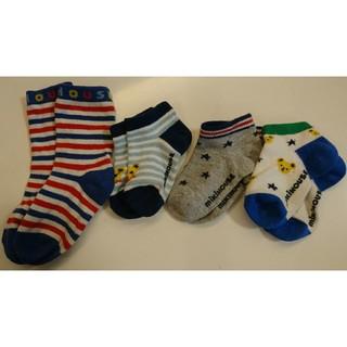 ミキハウス(mikihouse)のミキハウス ベビー靴下  4足セット  約11cm(靴下/タイツ)