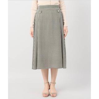 プラージュ(Plage)のLa Totalite スカーフ柄 サイドボタン フレアスカート(ひざ丈スカート)