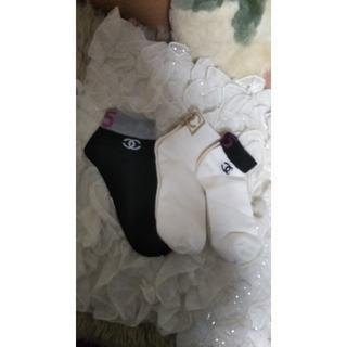 シャネル(CHANEL)の★シャネル ★ノベルティ 靴下  レディース 新品3点 セット(ソックス)