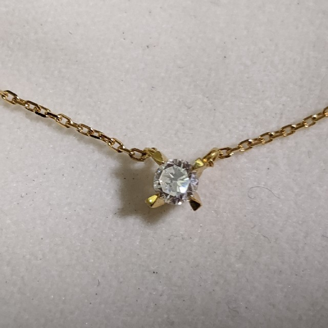 4℃(ヨンドシー)の0.189ctダイアモンド一粒ネックレス4℃ レディースのアクセサリー(ネックレス)の商品写真