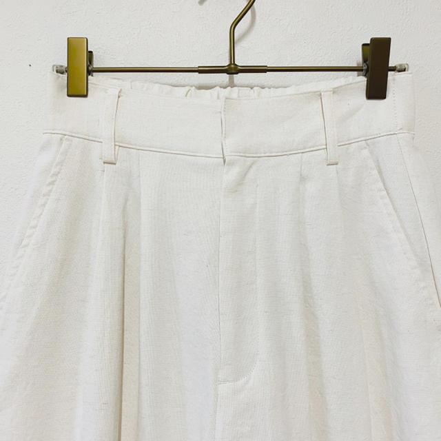 Ameri VINTAGE(アメリヴィンテージ)のAMERI LITTLE LINEN PANTS レディースのパンツ(カジュアルパンツ)の商品写真