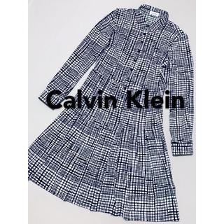 Calvin Klein - カルバンクライン 長袖 ワンピース 美品