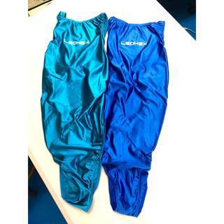 LEOHEX 新品 競泳水着 2枚組 蛍光サラサラつるつる