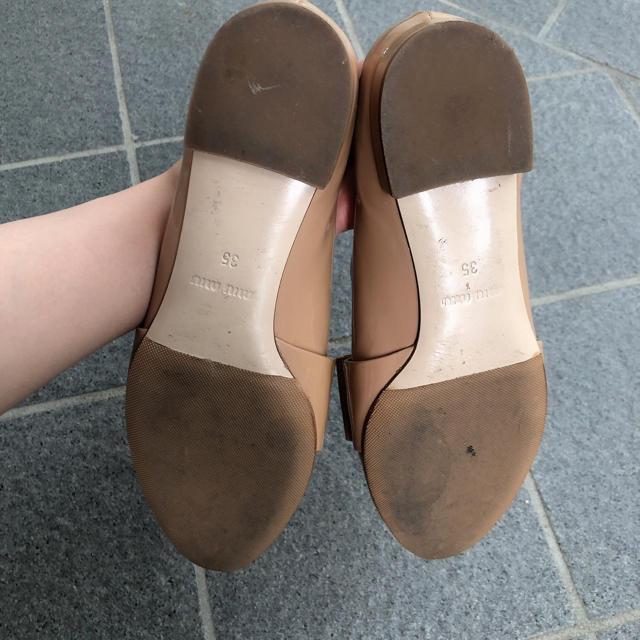 miumiu(ミュウミュウ)の値下げ!miu miu ♥︎ リボンフラットシューズ レディースの靴/シューズ(バレエシューズ)の商品写真