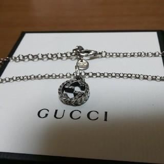 Gucci - GUCCI 燻し インターロッキング スモール サイズ ネックレス