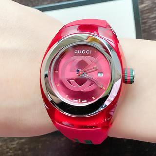 Gucci - 美品 海外限定 グッチ ラバー 腕時計 レディース メンズ 稼動品