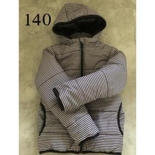 ベルメゾン(ベルメゾン)の千鳥柄 中綿 ジャンパー コート 140(ジャケット/上着)