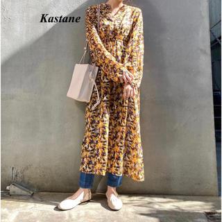 Kastane - 新品 Kastane ペイント柄シアーワンピース