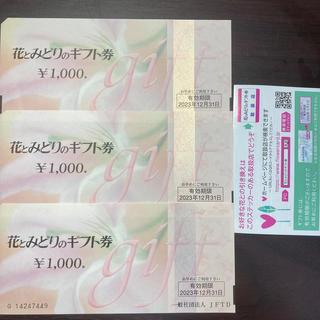 花とみどりのギフト券 【¥3000分】