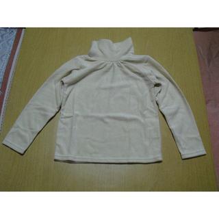 ニッセン(ニッセン)の新品 タートルネックシャツ クリームベージュ色 サイズ 130 男女兼用(Tシャツ/カットソー)