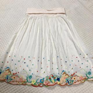 Cherir la femme シェリーラファム スカート 刺繍 メルヘン