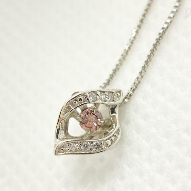 天然 ピンクダイヤモンド ネックレス レディースのアクセサリー(ネックレス)の商品写真