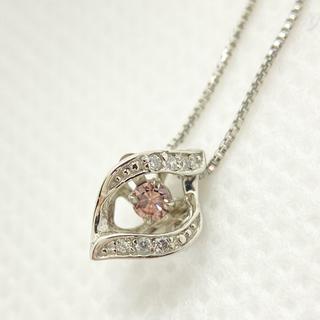 天然 ピンクダイヤモンド ネックレス