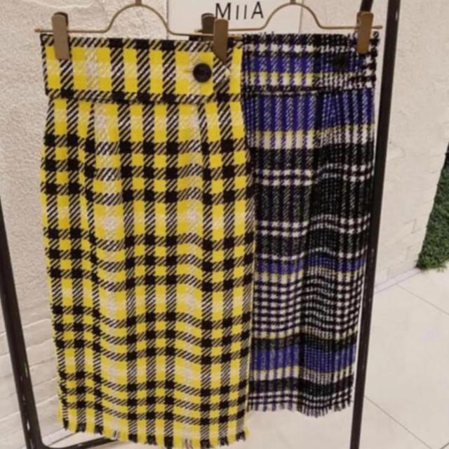 FRAY I.D(フレイアイディー)のフレイアイディー タイト スカート イエロー レディースのスカート(ロングスカート)の商品写真