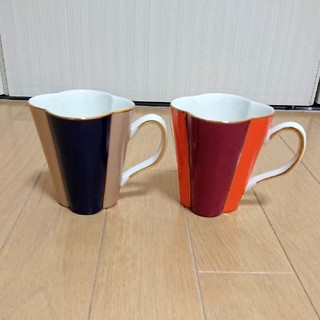 Francfranc - 花形 マグカップ 2点セット