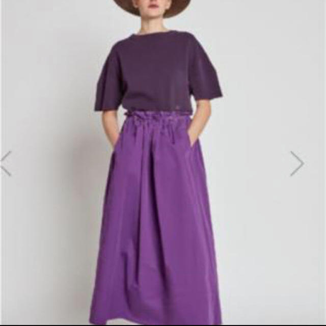 Drawer(ドゥロワー)のDrawer ウエストゴムギャザースカート パープル 36 レディースのスカート(ロングスカート)の商品写真