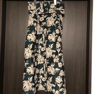 ランバンオンブルー(LANVIN en Bleu)のランバンオンブルー フォルクローレジャガード スカート (ひざ丈スカート)