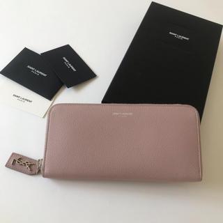 サンローラン(Saint Laurent)の美品 SAINT LAURENT サンローラン ラウンドファスナー長財布 正規品(財布)