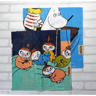 Little Me - 送料無料■MOOMIN/ムーミン■リトルミィ■大判ハンカチ■2枚セット③
