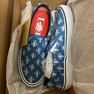 シュプリーム(Supreme)のSupreme Vans Hole Punch Denim Slip On 27(スニーカー)