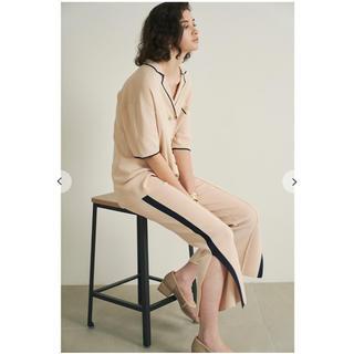 Lily Brown - リリーブラウン サイドラインニットパンツ ラインニットシャツ