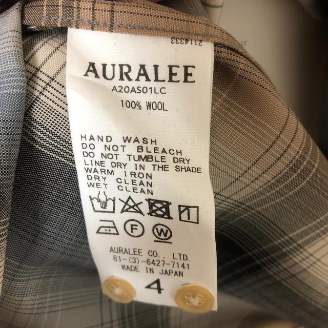 COMOLI(コモリ)の【新品】AURALEE チェック シャツ メンズのトップス(シャツ)の商品写真