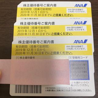 エーエヌエー(ゼンニッポンクウユ)(ANA(全日本空輸))のANA株主優待券3枚(その他)