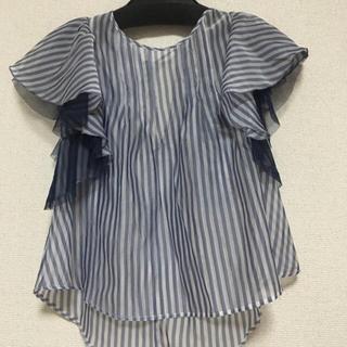 ココディール(COCO DEAL)の袖フレアオーガンジーブラウス(シャツ/ブラウス(半袖/袖なし))