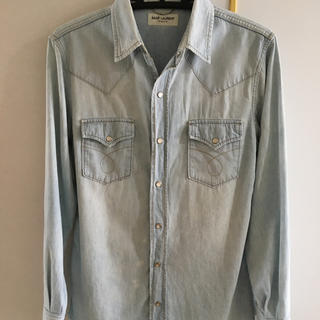 サンローラン(Saint Laurent)の美品! サンローラン デニム Tシャツ セリーヌ プラダ アクネ 財布 バッグ(シャツ)