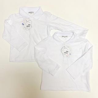 フタフタ(futafuta)の新品 タグ付き 2枚セット 長袖 ポロシャツ 白 双子 兄弟 姉妹 バースデイ(ドレス/フォーマル)