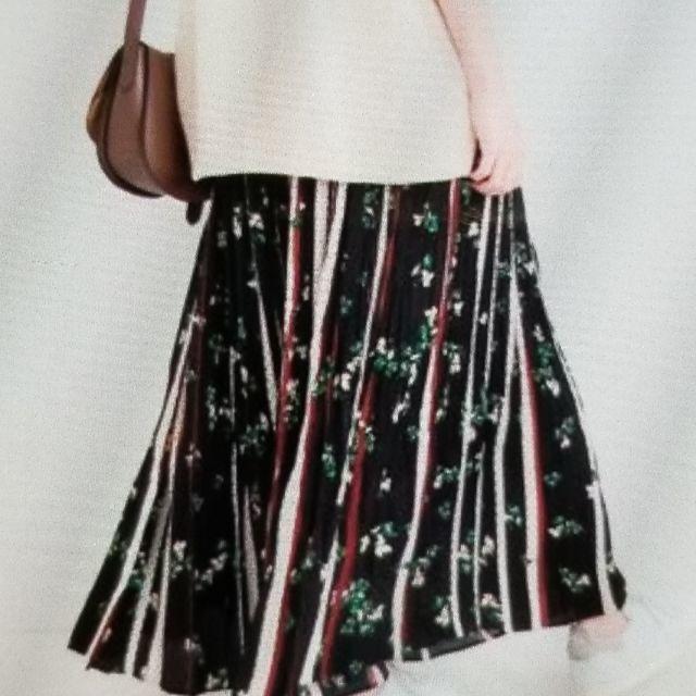 IENA(イエナ)のIENA ドットフラワーロングプリーツスカート レディースのスカート(ロングスカート)の商品写真