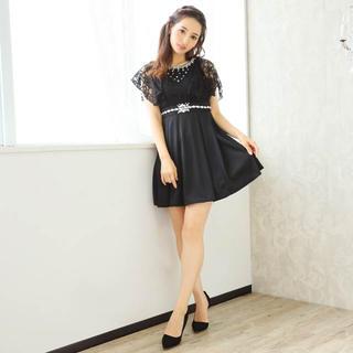 デイジーストア(dazzy store)のレーストップスドッキングフレアミニドレス(ナイトドレス)