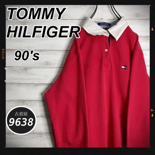 トミーヒルフィガー(TOMMY HILFIGER)の【激レア!!】トミーヒルフィガー✈︎厚手 秋冬 ポロシャツ スウェット(ポロシャツ)