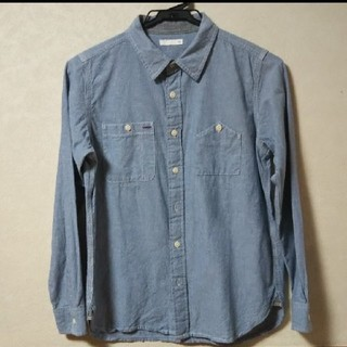 GU - GU、ジーユー、シャツ、長袖シャツ、デニムシャツ、150サイズ