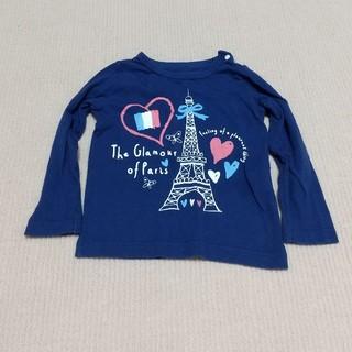 ニッセン(ニッセン)のロンT ニッセン ネイビー 女の子 90(Tシャツ/カットソー)