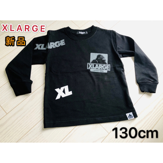 XLARGE - XLARGE KIDS ランダムロゴプリントTシャツ 長袖 キッズロンT