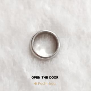 【訳アリ品】OPEN THE DOOR ラウンド 指輪 マット 11号 銀色 C(リング(指輪))