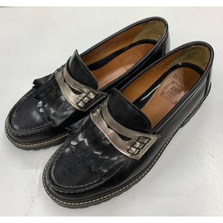 アナスイ(ANNA SUI)のアナスイ HARUTA 国産 ローファー シルバー 革靴(ローファー/革靴)