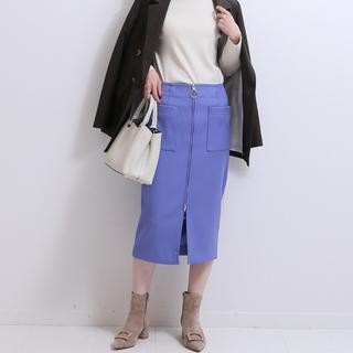 ノーブル(Noble)のノーブル タイトスカート  ブルー(ひざ丈スカート)