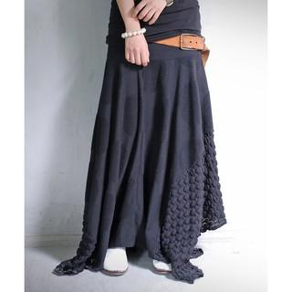 アンティカ(antiqua)の【antiqua】ビッグドット 膨れ織り 変形スカート【アンティカ】(ロングスカート)