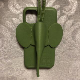ロエベ(LOEWE)のelephant motif iPhone 11 case グリーン(iPhoneケース)