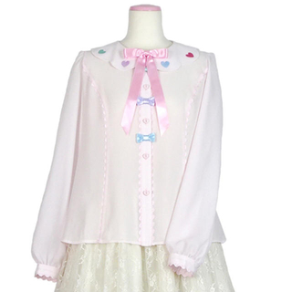 Angelic Pretty - Girly Stickerブラウス ピンク