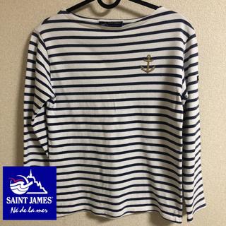 セントジェームス(SAINT JAMES)の美品 SAINT JAMES(セントジェームス)のボーダー 長袖 カットソー(カットソー(長袖/七分))