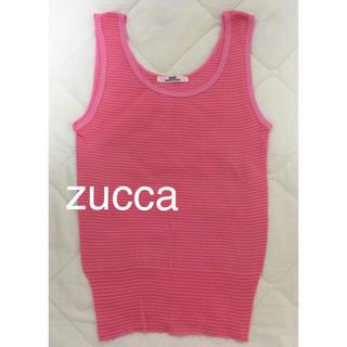 ズッカ(ZUCCa)の超美品☆ zucca(ズッカ)ボーダータンクトップ(タンクトップ)
